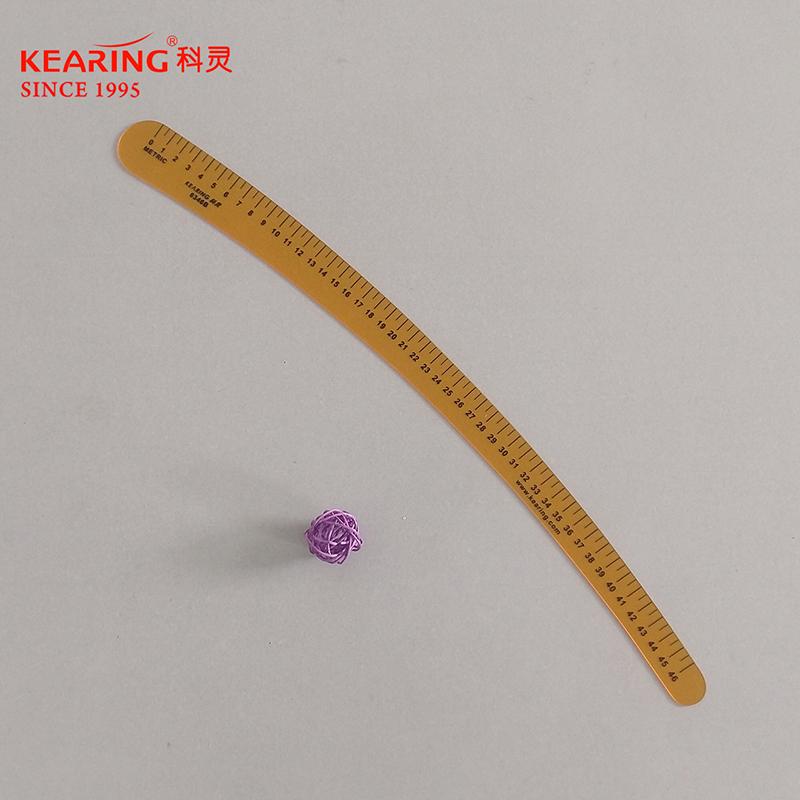 KEARING科灵 6346B表面刻度服装尺 万能袖臂尺 缝纫尺 黄色曲线板